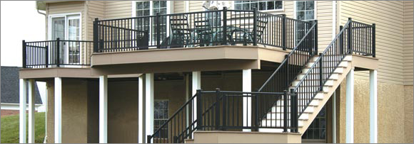 Richmond Aluminum Railing System Installed By Schiano Fence