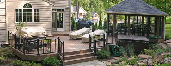Somerset Aluminum Railing System Installed By Schiano Fence