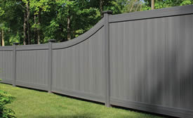 Pvc Textured Fence Installations By Schiano Fence