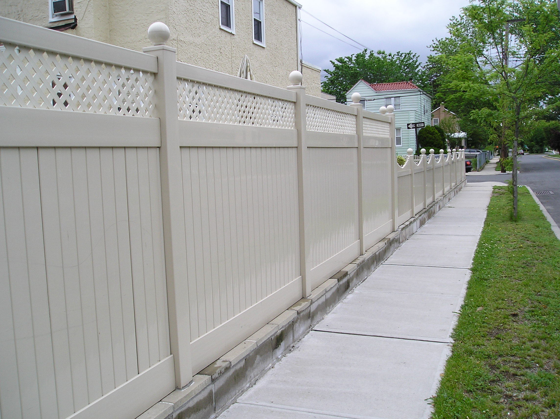 with mini lattice pvc fence